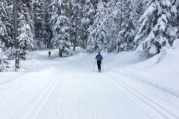 Private cross country ski lessons at the Altiport in Meribel
