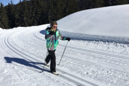 A private cross country ski lesson at the Meribel Altiport