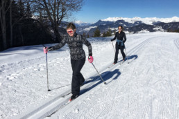 A private group cross country ski lesson in Meribel