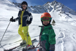 A kids private ski lesson exploring Courchevel
