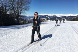 A cross country ski lesson at the Altiport in Meribel
