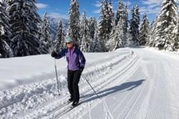 A private cross country ski lesson in Meribel