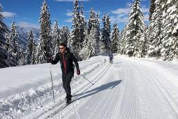 Private cross country ski lessons in Meribel