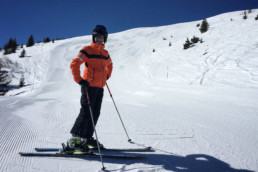A private ski lesson for an advanced skier in Courchevel