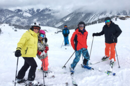 Private ski guiding with a family in Courchevel Moriond