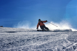 Private piste performance ski lessons for experts in Courchevel