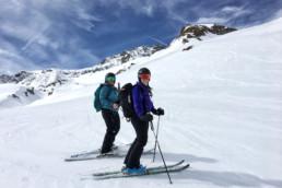 Ladies on a ski tour in Courchevel