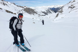 Ski touring in the Les Avals valley